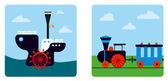 Ship and train — Stock Vector