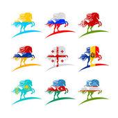 European flags in 2014 — Stock Vector