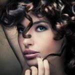 Shiny curly hair — Stock Photo
