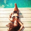Relax at pool — Stockfoto