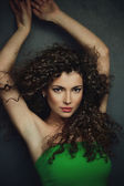 Curly hair woman — Stock Photo
