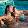 Women in jacuzzi — Stock Photo