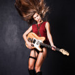 Rock girl — Stock Photo