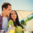 Couple outdoor cafe — Stock Photo #26123749