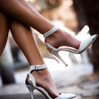 Legs in high heels — Stockfoto
