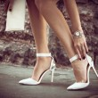 Elegant high heel shoes — Stock Photo