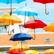 Colorful umbrellas — Photo