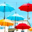 Colorful umbrellas — Stock Photo