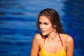 Piękno w basenie — Zdjęcie stockowe