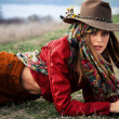 Autumn fashion woman — Stockfoto