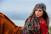 Herfst mode vrouw — Stockfoto