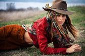Autumn fashion woman — Stock Photo