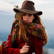 Stock Photo: Autumn fashion woman