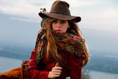 Autumn fashion woman — Stock Photo
