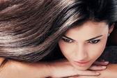 Dark hair beauty — Stock Photo