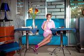 In café — Stockfoto