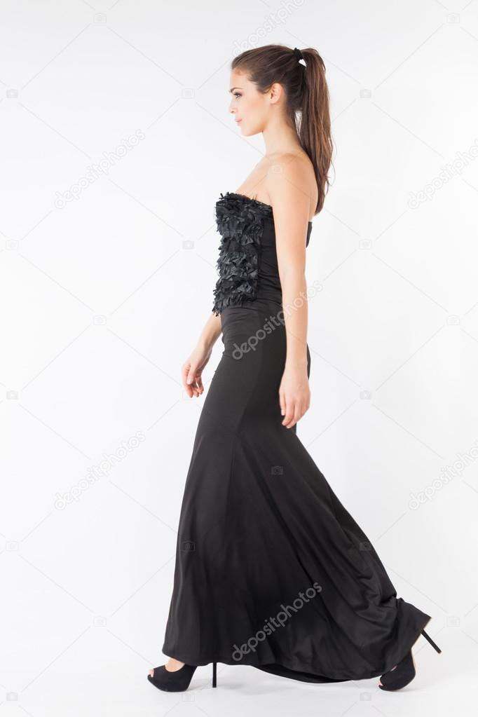 langes elegantes kleid stockfoto 38932305. Black Bedroom Furniture Sets. Home Design Ideas