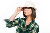 Sombrero y gafas — Stock fotografie