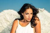 Angel woman — Stock Photo