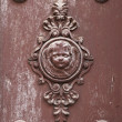 Antique door ornament - Stock Photo