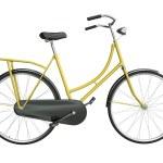 Yellow bicycle — Stock Photo