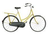 Yellow bicycle — Stockfoto