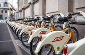 City bikes in Milan, Italy — Stock Photo