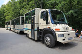 Tour bus in Plitvice — Stock Photo