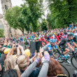 Постер, плакат: Tour de France peleton in York