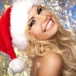 Stock Photo: Extraordinary Santgirls smiling