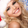 Santa Girl Christmas TIme - Stock Photo