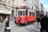 Nostalgic Red Tram — Stock Photo