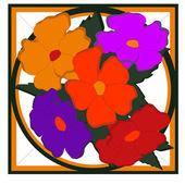 Květiny figurální — Stock vektor
