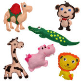 Felt toys safari animals — Stock Photo