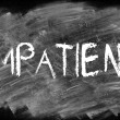 Stock Photo: Patient or not impatient