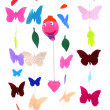 Stock Photo: Butterflies and balloon