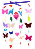 Butterflies and balloon — Stock Photo