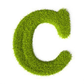Grass style Latin Alphabet Letter C — Stock Photo