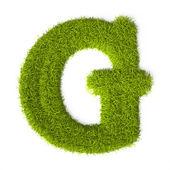 Grass style Latin Alphabet Letter G — Stock Photo