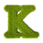 Grass style Latin Alphabet Letter K — Stock Photo