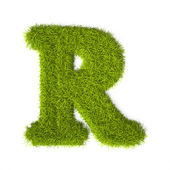 Grass style Latin Alphabet Letter R — Photo