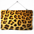 Cheetah fur notice board — Stock Photo