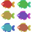 Six Colourful Fish - Stok fotoğraf