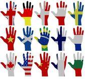 Flag hands — Stock Photo
