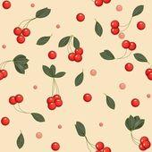 Seamless cherries — Stock Photo