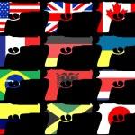 Постер, плакат: Flag Guns