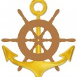 Anchor and Wheel — Stock Photo