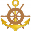 Stock Photo: Anchor and Wheel