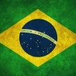Grunge Brazil flag - Stock Photo