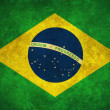 Stock Photo: Grunge Brazil flag